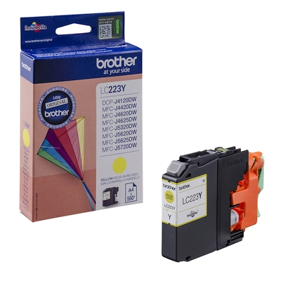 Cartridge Brother LC-223Y yellow 600 str.